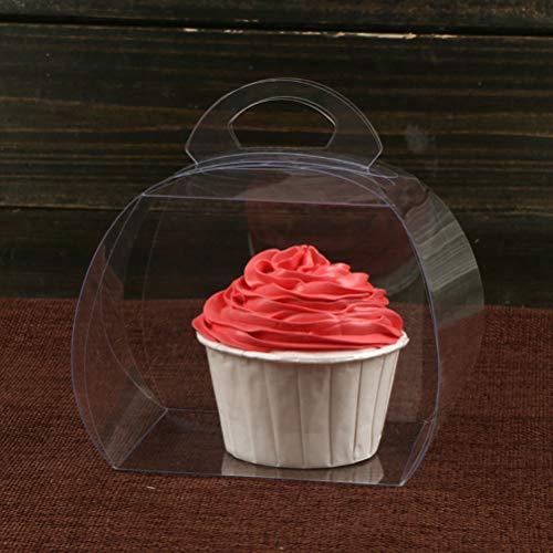 NACOLA Cajas para Cupcakes, Cajas para Tartas, Dulces, Regalos, día Festivo, Fiestas, cumpleaños, Paquete de 10,...