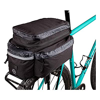 Sunlite Utili-T Rackbag II Expandable, Black : Bike Panniers And Rack Trunks : Sports & Outdoors