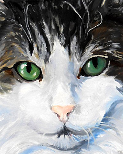 Original Signed Painting - Cat Portrait Art Print from Original Oil Painting, Signed by Artist