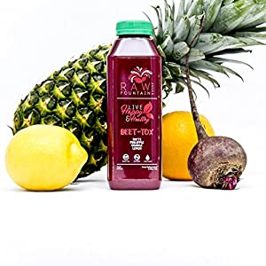 3 Day Juice Cleanse by Raw Fountain Juice - 100% Fresh Natural Organic Raw Vegetable & Fruit Juices - Detox Your Body in a Healthy & Tasty Way! - 18 Bottles (16 fl oz) + 3 BONUS Ginger Shots