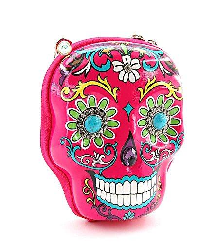 Cowgirl Body Sugar Bag Skull Trendy Fuchsia Small 3D Cross faqnrHFwf