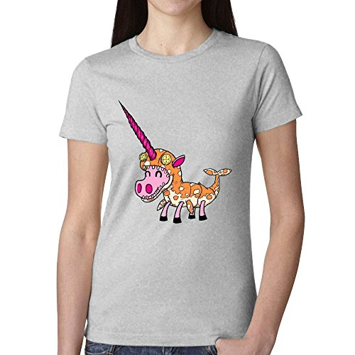 Tony Arden Unicorn In Narwhal Costume Woman's T shirt Grey