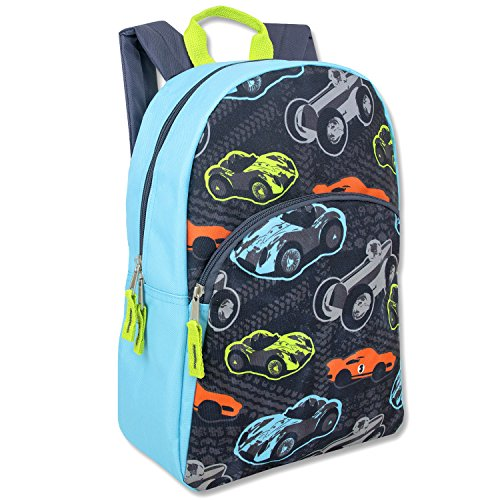 Trailmaker Super Popular Boys Backpack for School, Summer Camp, Travel and Outdoors! Cars
