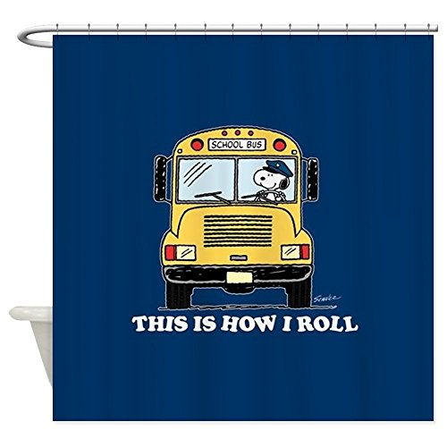 CafePress Snoopy - This is How I Roll Decorative Fabric Shower Curtain (69