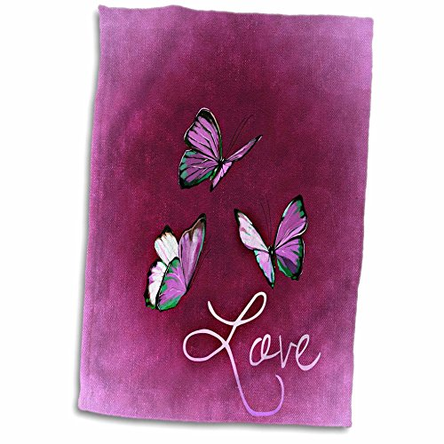 3D Rose Love Style with Butterfly and Pink Background Hand T
