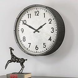 AR Lighting The Uttermost Berta Ivory Wall Clock