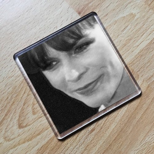 JAMIE LEE CURTIS - Original Art Coaster #js001]()
