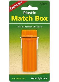 Coghlans Plastic Match Box - Utensilio de cocina para acampada, color naranja