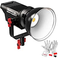 Aputure Light Storm COB 120D 135W 6000K Daylight Balanced LED Continuous Video Light CRI97+ TLCI97+ 14000lux@0.5M Bowens Mount Dual Power Supply 2.4G Remote Control 18dB Low Noise V-Mount Plate