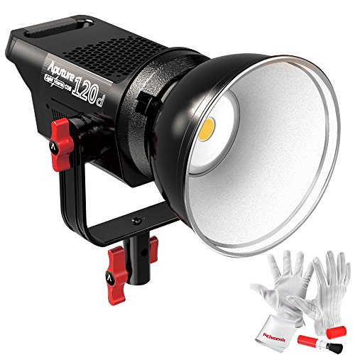 Aputure Light Storm COB 120D 135W 6000K Daylight Balanced LED Continuous Video Light CRI97+ TLCI97+ 14000lux@0.5M Bowens Mount Dual Power Supply 2.4G Remote Control 18dB Low Noise V-Mount Plate by Aputure