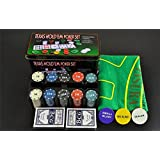 House of Quirk Texas Hold'Em Poker Set Casino Game - 200 Poker Chip(Small)