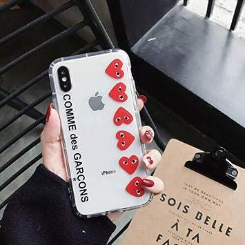 CDG Play Comme des Garcons Coque en silicone souple pour iPhone 6 7 8 X XS MAX XR