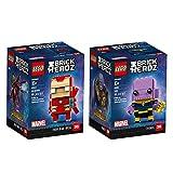 LEGO 6237545 Brickheadz Iron Man and Thanos Bundle, Avengers Infinity War (206 Pieces)