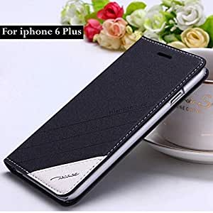 New Arrival ! TScase logo Brand Original Retro Luxury Stand Flip Leather Case for iphone 6 Plus 5.5 Bags Cover Holster RCD04460 --- Color:Black