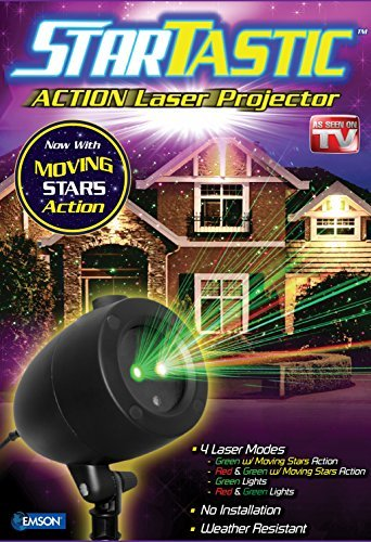 StarTastic Holiday Light Show Action Laser Light Projector As Seen On TV
