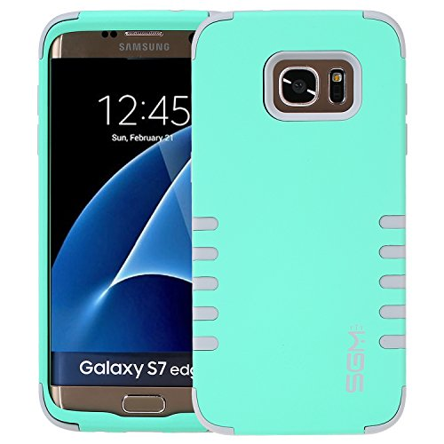 S7 Edge Case, SGM 3-Piece High Impact Hybrid Defender Case For Samsung Galaxy S7 Edge (Mint + - Port Mall New New Jersey