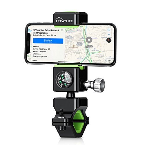 Bike Mount, Treatlife Universal Smart Phone Bicycle Holder Motorcycle Handlebar Mount Compatible with iPhone X 8 7 6 Plus/Galaxy s7/s6 etc, Adjustable 360 Degree Rotation
