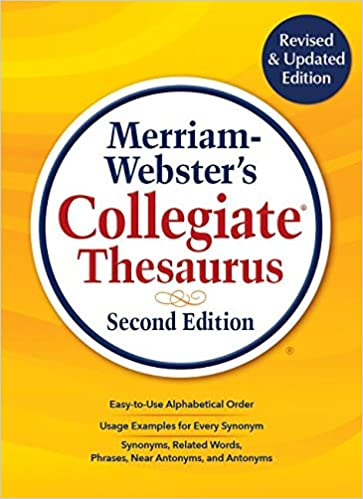 Merriam-Webster's Collegiate Thesaurus, New 2019 Copyright