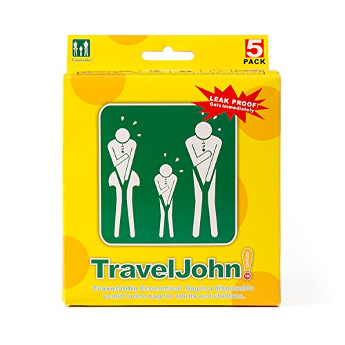 Travel John Disposable Vomit/Urine Bag for Children and Adults 5 -