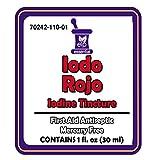 Iodine Tincture Red First Aid Antiseptic Iodo Rojo