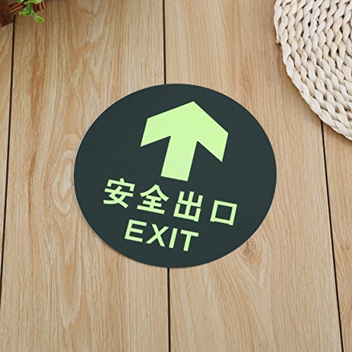 WellieSTR 20 Pieces Exit Sign with straight Arrow,Safety Sign,Luminescent Film DIY Glowing Lumious tapes Waring stripes Night lighting lines Exit Sign Stickers for KTV, Bars 19.5cm