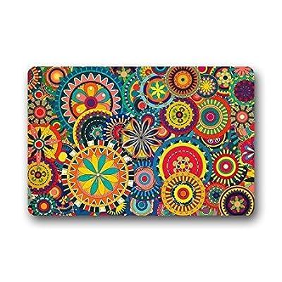 """TSlook Doormat Colorful Floral Indoor/Outdoor/Front Welcome Door Mat(30""""x18"""",L x W)"""