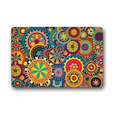 TSlook Doormat Colorful Floral Indoor/Outdoor/Front Welcome Door Mat(30