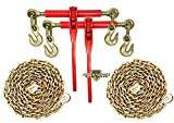 5/16'' Transport Hauling Load Package - (2) Ratchet Binders - (2) 20' Foot Chains