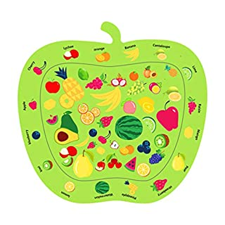 TOYANDONA Baby Play Mats Newborn Toys Play Activity Center Inflatable Apple Shape Water Pads Baby Sensory Toys Infants Baby Boy Girl