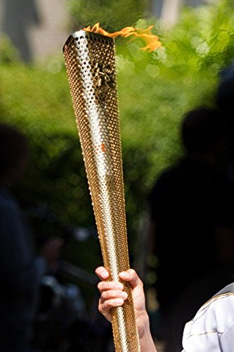 Laminated 24x36 inches Poster: Carry Fire Flame Gold Light Olympic Games Relay Sport Sports Olympic Torch London Olympics -