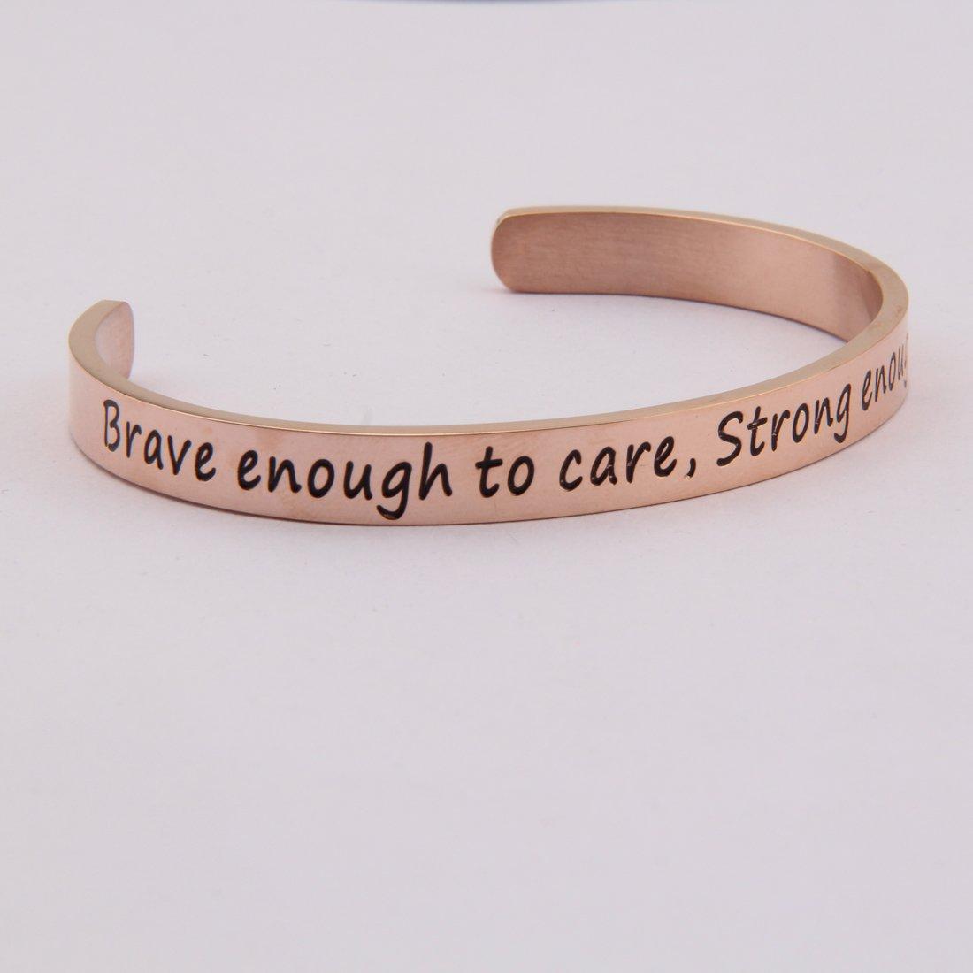 Quote Bracelet WUSUANED Cuff Bracelet Gift for Her Graduation Inspiration Bracelet Stacking Bracelet