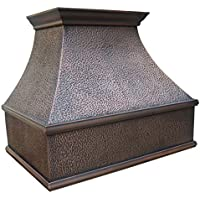MCM3 Wall Mounted Copper Range Hood 36L x 24W (front to back) x 30H