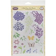 "Justrite Papercraft Multi-Step Lilac Bouquet Clear Stamp Set, 6 X 8"""
