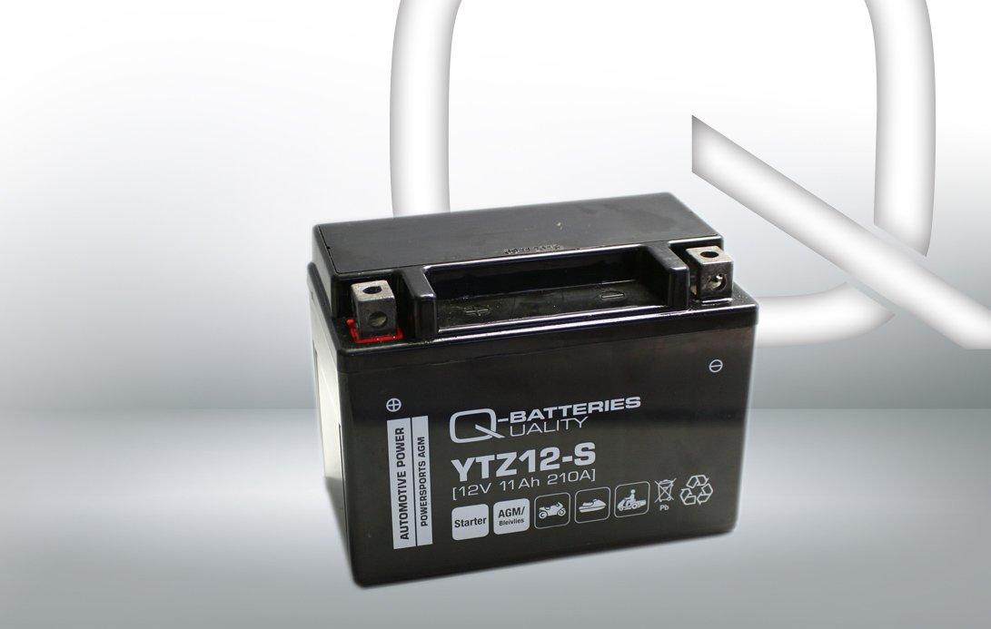 Q-Batteries Motorrad-Batterie YTZ12-S AGM 12V 11Ah 210A Akkusys GmbH