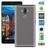 Padcod M40 Unlocked 6 Inch 4G FDD-LTE Smartphone Android 7.0 Version, Quad Core 1.3GHz CPU, 16G ROM 2G RAM, Dual Sim Card Slot, Fingerprint Unlock Smartphone (Grey)