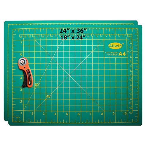 Wide Set Workstation (Zoraa Self-Healing Cutting Mats w/Rotary Cutter (3-Piece Set) Small(18