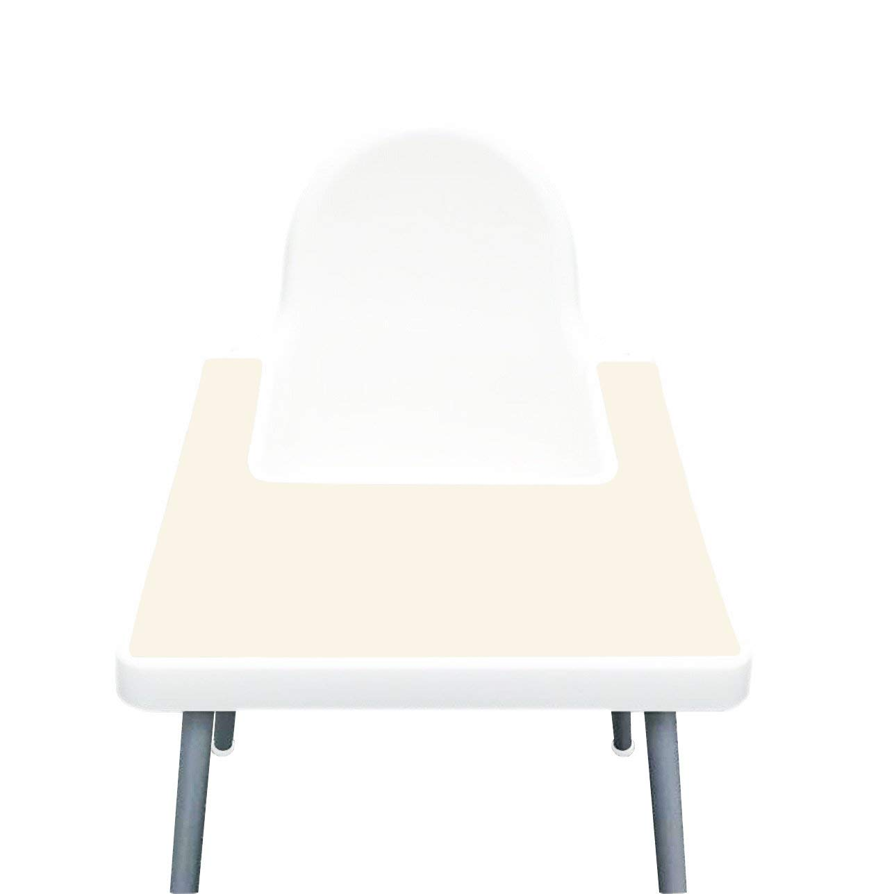 IKEA High Chair Placemat for Antilop Baby High Chair – Silicone Placemats for Baby and Toddler Finger Food Dropping – BPA Free, Dishwasher Safe – Non Slip Food Mat + More Colors (Ivory)