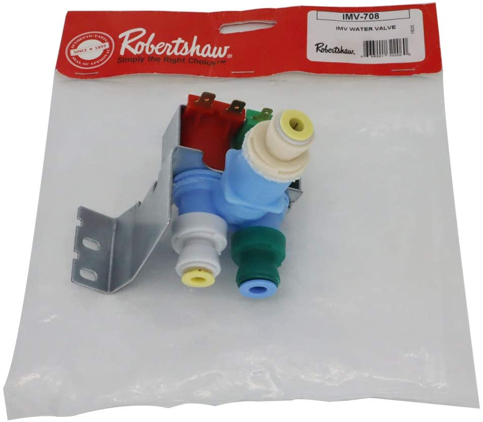 OEM Mania (Original Version) IMV708 W10408179 4389177 for Whirlpool Kitchenaid Kenmore Refrigerator Water Valve by Robertshaw