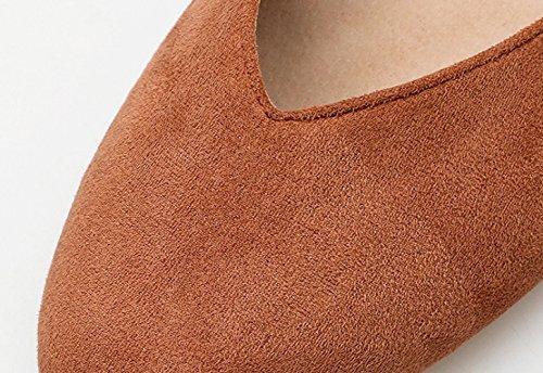 Basso Brown Donna Bocca Dimensioni Color Scarpe Caramello Tacco Profondi Mocassini da Scarpe 409 con Grandi NBWE Poco di w8qYTFE