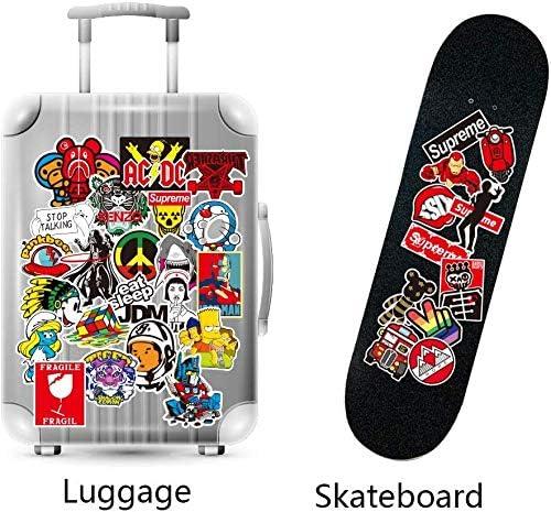 Computer Skateboard Car Variety Pack for Luggage Travel Case,Bicycle Teens Adults Girls Boys- 100/% Satisfaction Cool Random Vinyl Stickers 100 Pcs Cute Waterproof Vinyl Decal Sticker Guitar
