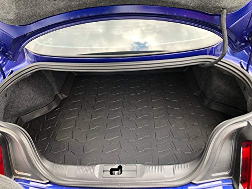 Laser Measured Trunk Liner Cargo Rubber Tray for Mustang 2015-2019