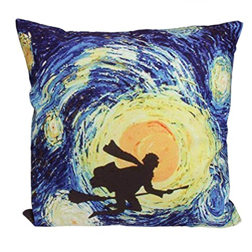 Halloween Boutique Cartoon Pillow Case Sofa Waist Throw Cushion Cover Home Decor Children'S Favorite (Multicolor A)
