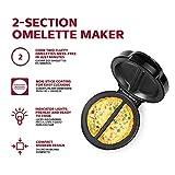 Holstein Housewares Omelet Maker, Makes 2, Black