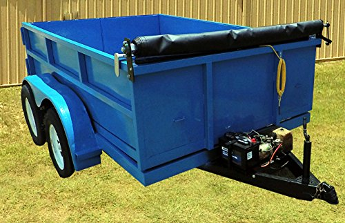 Inimitable Hand Crank Tarp Roller Kit With Retention Bow for Dump Truck or Trailer with MESH TARP (7' W x 12' (12' Roller Bracket)