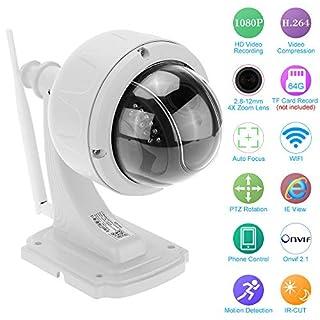 KKmoon Wireless Security Camera,Digital Zoom,Wifi IP Camera Outdoor,CCTV Camera 2.8-12mm Auto-focus,Baby Monitor, WiFi Pet Camera,Home Surveillance,PTZ Dome Camera, 360 degree Pan, 90 degree Tilt