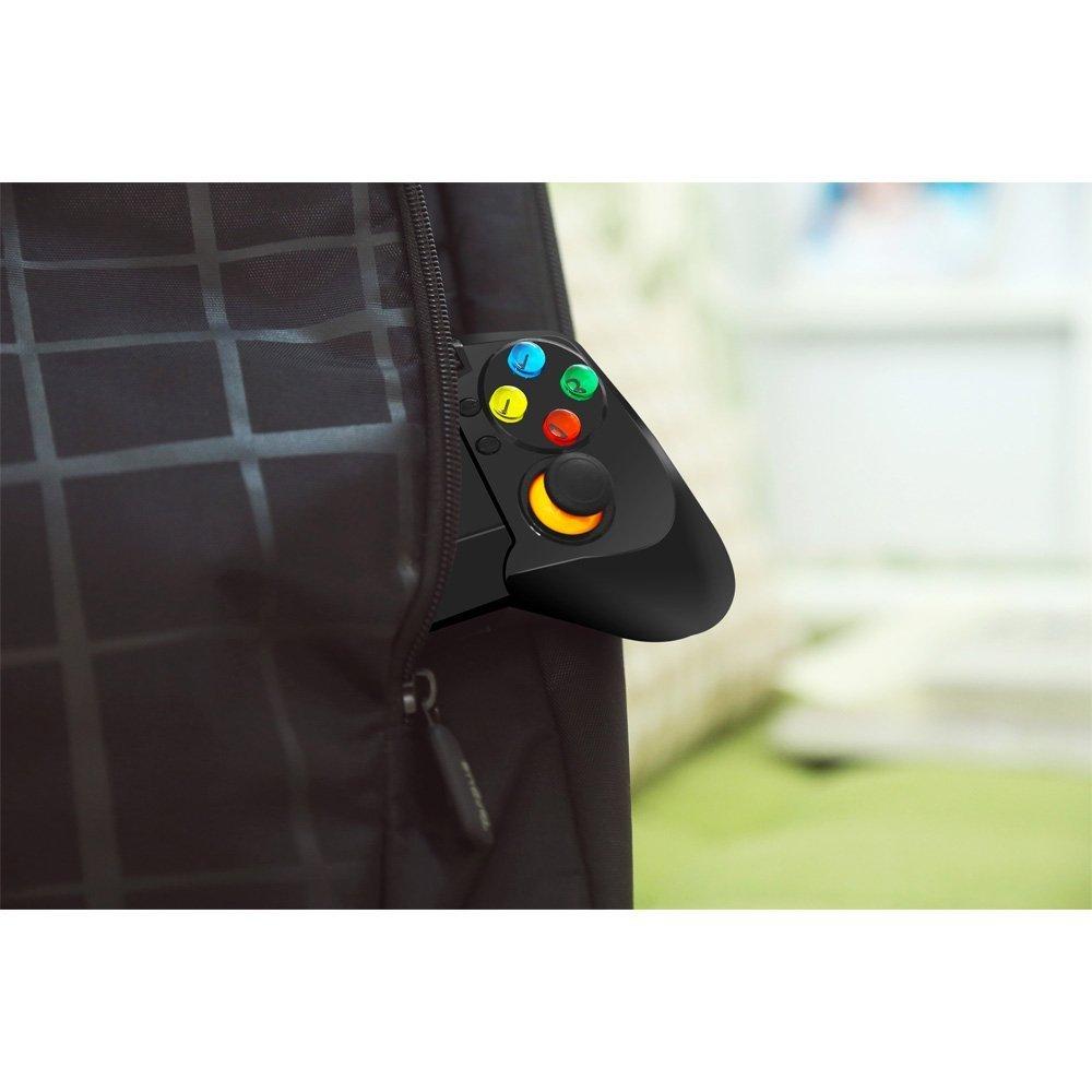 Beboncool - Gamepad inalámbrico Bluetooth para tablet Android/smartphone Android/TV Box/Gear VR/emulador, color azul negro/rojo: Amazon.es: Informática