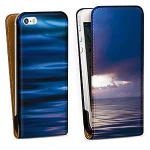 Diseño para Apple iPhone 5 S DesignTasche Downflip black - Deep Blue