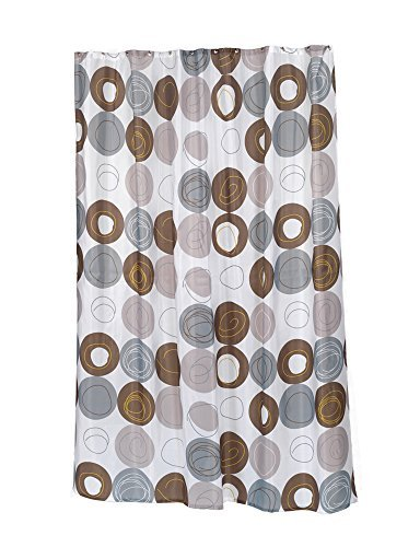 Carnation Home Fashions Madison Fabric Water Resistant Shower Curtain, Stall Size 54-Inch by 78-Inch