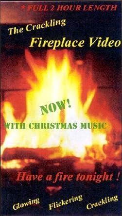 Fireplace With Christmas Music.Amazon Com Crackling Fireplace Video Christmas Music Vhs