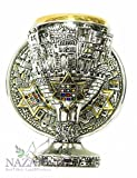 Silver Chalice Jerusalem Goblet Star of David With Hoshen Stones holyland